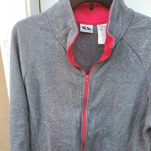 Gray/ Pink Collared Sweater